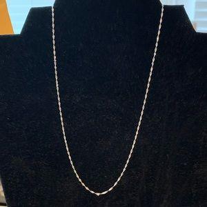 "Jewelry - Vintage 10K DIAMOND CUT white gold rope chain 16"""